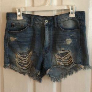 Kancan blue jeans shorts never worn